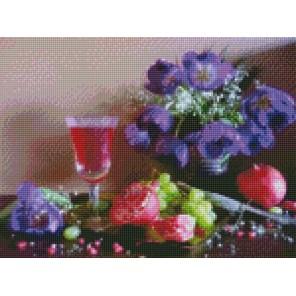 Гранатовая наливочка Алмазная мозаика на подрамнике Цветной