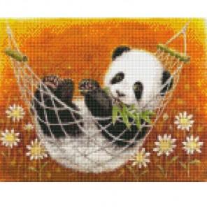 Забавная панда Алмазная мозаика на подрамнике Цветной