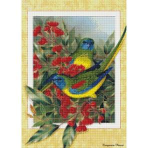 Райские птицы Алмазная мозаика на подрамнике Цветной