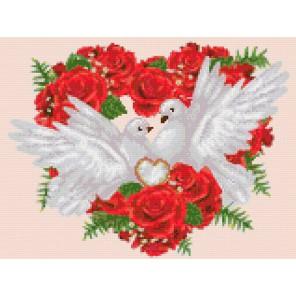 Свадебные голуби Алмазная мозаика на твердой основе Iteso