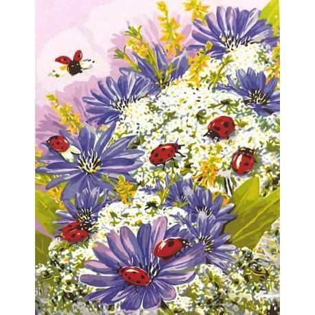 Божьи коровки (художник Грег Джордано) Раскраска картина по номерам акриловыми красками на холсте Color Kit