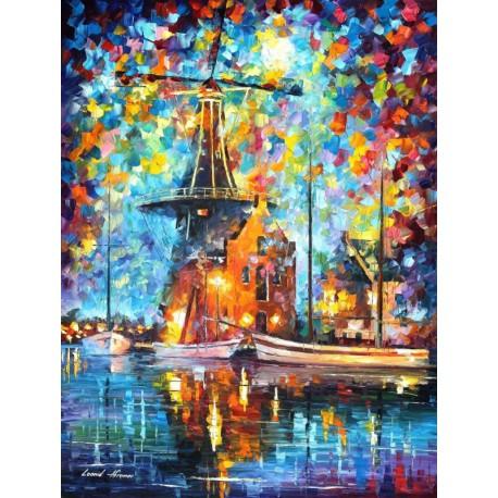 Водная абстракция (художник Леонид Афремов) Раскраска картина по номерам акриловыми красками на холсте