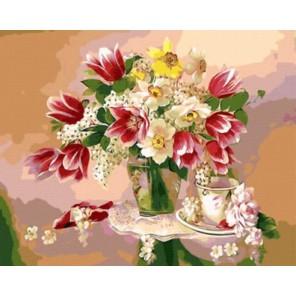 GX8837 Весенний натюрморт Раскраска картина по номерам акриловыми красками на холсте