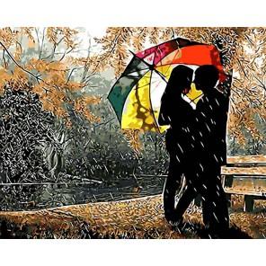 GX8840 Под разноцветным зонтом Раскраска картина по номерам акриловыми красками на холсте