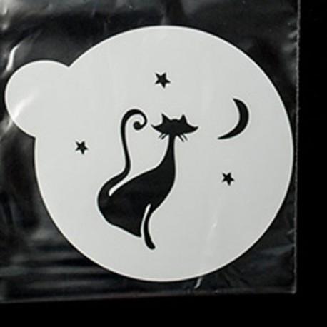 Кошечка и звездочки Трафарет для кофе и десертов