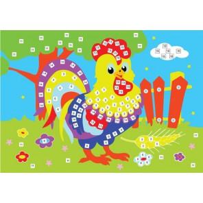Петушок Мозаика из стикеров Color Kit