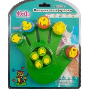 Ладошка Пальчиковые краски со штампиками Molly