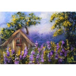 Домик в деревне Картина из шерсти Toyzy