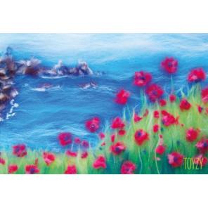 Крымский берег Картина из шерсти Toyzy