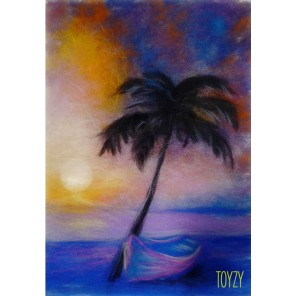 Пальма Картина из шерсти Toyzy