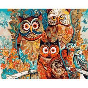 Совы Дэвида Галхата Раскраска картина по номерам акриловыми красками на холсте Color Kit