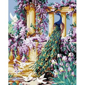 Павлин Раскраска картина по номерам акриловыми красками на холсте Color Kit