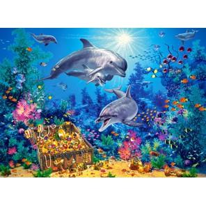 Семья дельфинов Пазлы Castorland