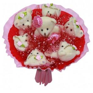 Розовые фантазии Набор для создания букета из 7-ми игрушек