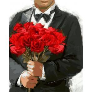 Свадебный букет Раскраска картина по номерам акриловыми красками на холсте Color Kit
