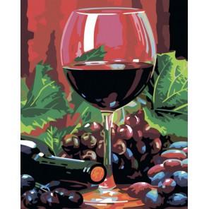 CG797 Бокал вина Раскраска картина по номерам акриловыми красками на холсте Color Kit