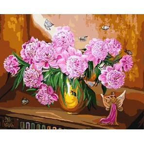 CG812 Розовые пионы Раскраска картина по номерам акриловыми красками на холсте Color Kit