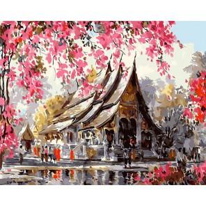 Тайский храм (Танакорн Чаиджинд) Раскраска картина по номерам акриловыми красками на холсте