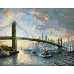 Дух Нью-Йорка (художник Томас Кинкейд) Раскраска картина по номерам на холсте