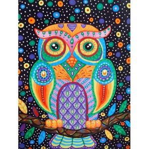 Разноцветная сова Раскраска картина по номерам акриловыми красками на холсте GX3573