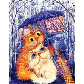 Втроем под зонтиком Раскраска картина по номерам акриловыми красками на холсте