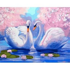 Лебединая нежность Раскраска картина по номерам акриловыми красками на холсте