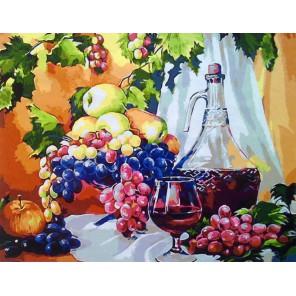 Виноградный натюрморт Раскраска картина по номерам на холсте