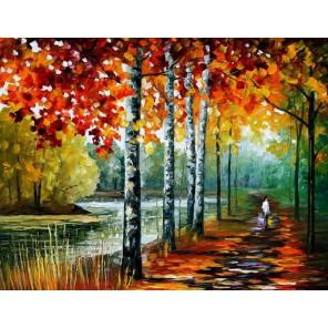 Осенний блюз (художник Леонид Афремов) Раскраска картина по номерам на холсте