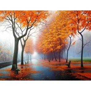 И снова осень Раскраска картина по номерам на холсте