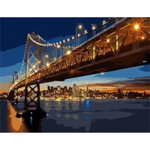 Ночной Сан-Франциско Раскраска картина по номерам акриловыми красками на холсте