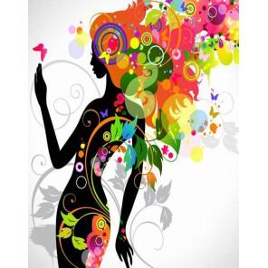 Девушка-весна Раскраска картина по номерам акриловыми красками на холсте