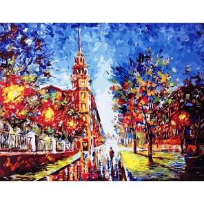 Минск, дом под шпилем Раскраска картина по номерам акриловыми красками на холсте
