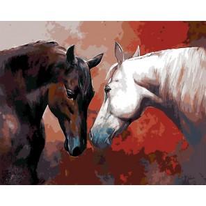 Первая встреча (художник Спартако Ломбардо) Раскраска картина по номерам акриловыми красками на холсте