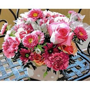 Розовое ассорти Раскраска картина по номерам акриловыми красками на холсте