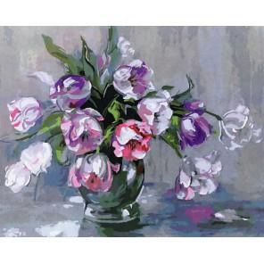 Нежные тюльпаны Раскраска картина по номерам на холсте