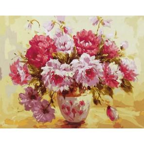Великолепные пионы (художник Антонио Джанильятти) Раскраска картина по номерам акриловыми красками на холсте