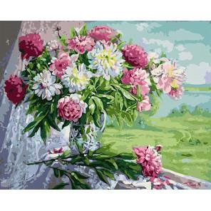 Букет пионов Раскраска картина по номерам акриловыми красками на холсте