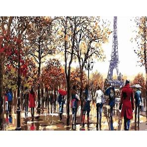 Эйфелева башня осенью (художник Ричард Макнейл) Раскраска картина по номерам акриловыми красками на холсте