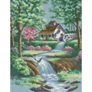 Тихий ручей Алмазная мозаика на подрамнике Цветной