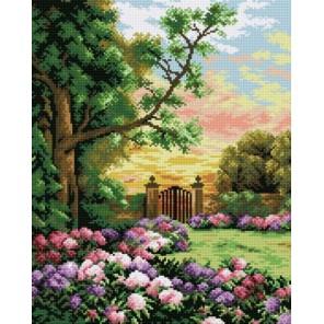 Сад цветов Алмазная мозаика на подрамнике Цветной