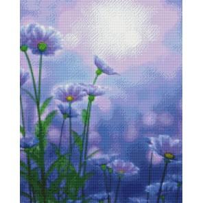 Цветы лета Алмазная мозаика на подрамнике Цветной