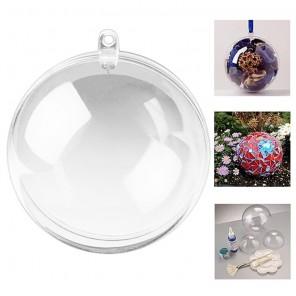 Шар 16см прозрачный Фигурка разъемная из пластика для декорирования