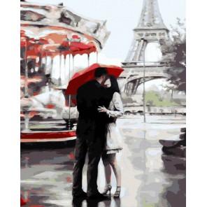 Наш Париж (художник Даниэль дель Орфано) Раскраска картина по номерам на холсте