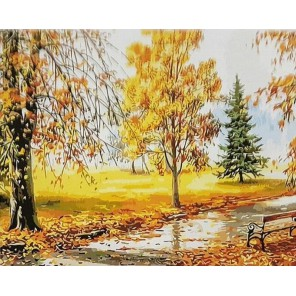 Солнечная осень Раскраска картина по номерам акриловыми красками на холсте