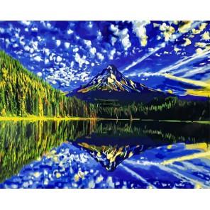 Фантастическое отражение Раскраска картина по номерам акриловыми красками на холсте