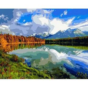 Чудесное озеро Раскраска картина по номерам акриловыми красками на холсте