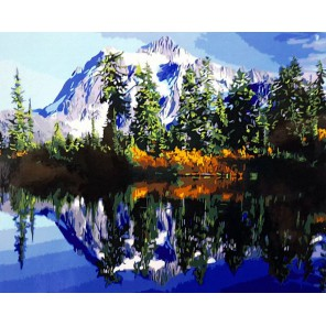 Байкал Раскраска картина по номерам акриловыми красками на холсте