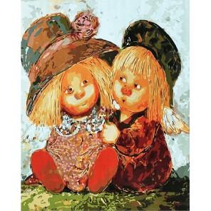 Два солнечных ангела Раскраска картина по номерам акриловыми красками на холсте