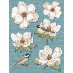 Птицы на цветах Стикеры для скрапбукинга, кардмейкинга K&Company