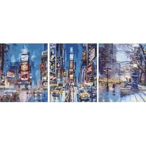 Манхеттен Триптих Раскраска картина по номерам акриловыми красками на холсте